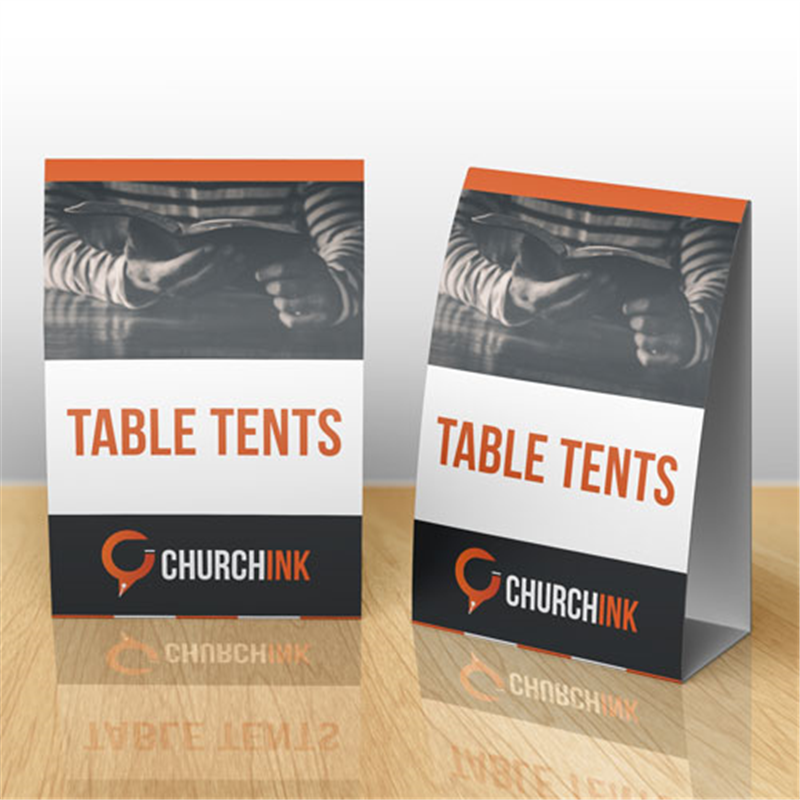 Table Tent Cards For Cafe - Large table tent cards