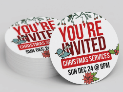 Order Christmas Invite Cards from ChurchINK.com